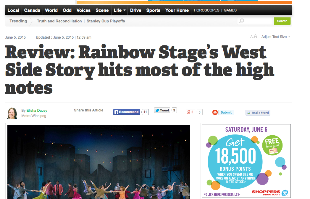 Rainbow Stage's West Side Story hits most of the high notes