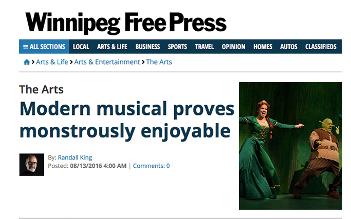 Free Press Shrek The Musical Review